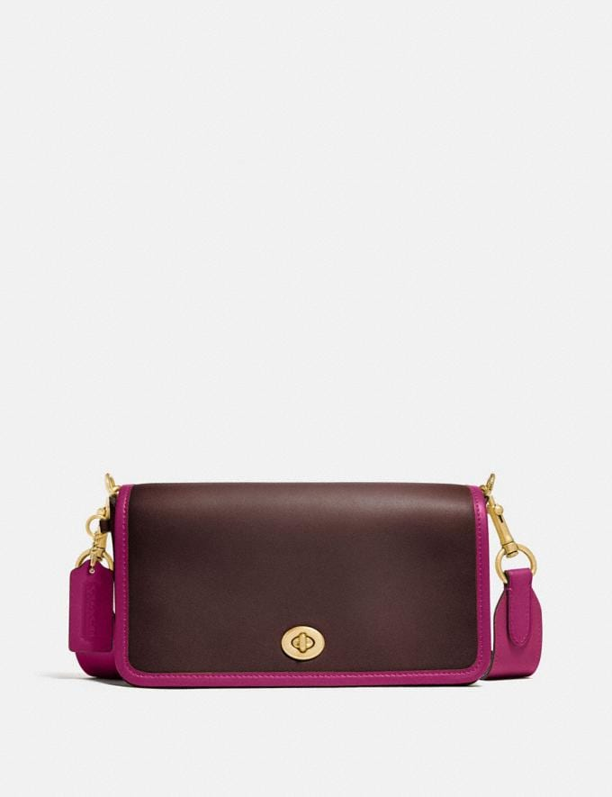 Coach Dinky in Colorblock Brass/Dark Teak Multi New Women's New Arrivals Collection