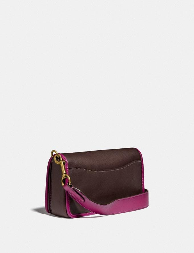 Coach Dinky in Colorblock Brass/Dark Teak Multi New Women's New Arrivals Collection Alternate View 1