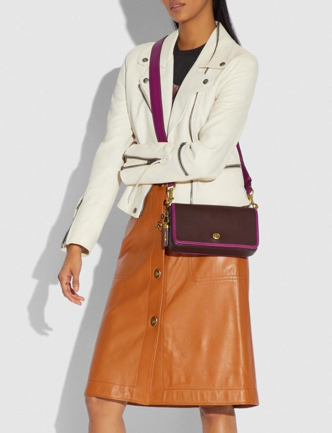 Coach Dinky in Colorblock Brass/Dark Teak Multi New Women's New Arrivals Collection Alternate View 4