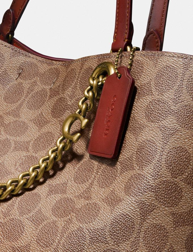 Coach Signature Chain Convertible Tote in Signature Canvas Brass/Tan Rust Gifts For Her Under $500 Alternate View 5