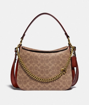 SIGNATURE CHAIN HOBO IN SIGNATURE CANVAS