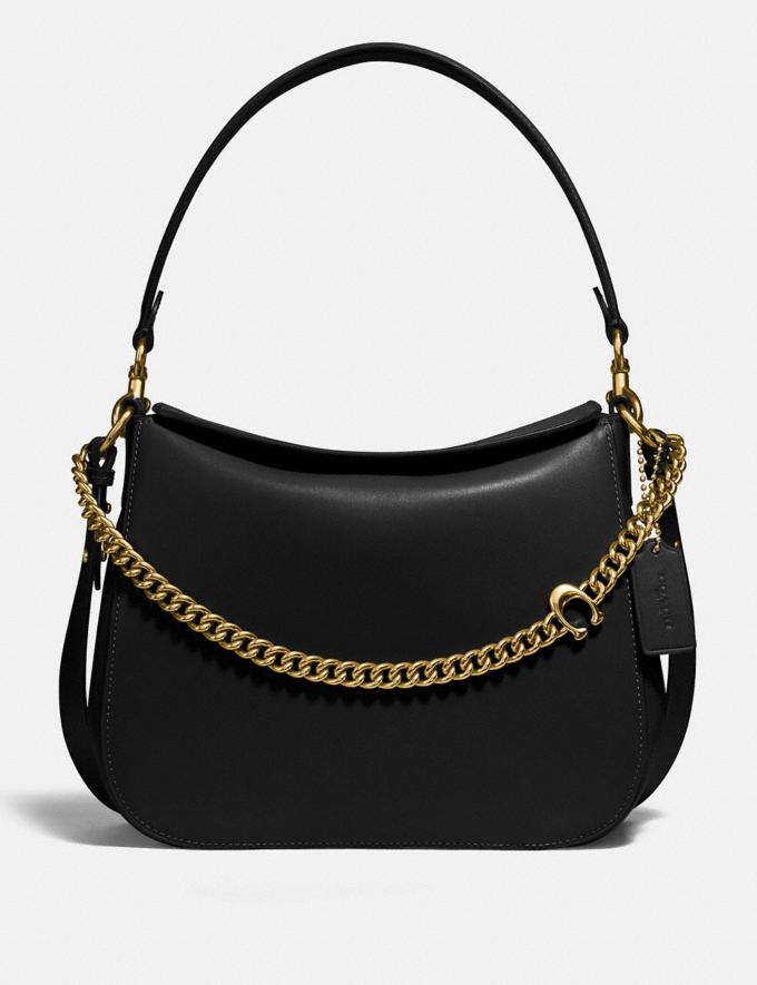 Coach Signature Chain Hobo Brass/Black New Women's New Arrivals
