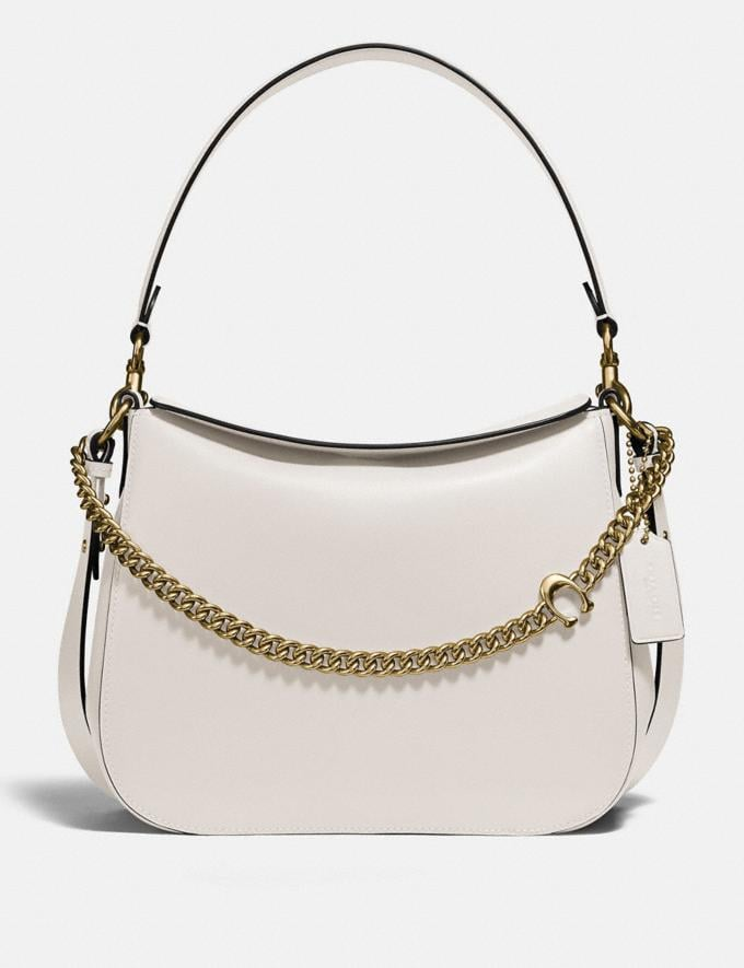 Coach Signature Chain Hobo Brass/Chalk Women Bags Shoulder Bags