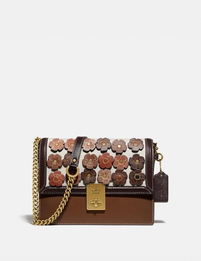 Coach Hutton Shoulder Bag With Tea Rose Brass/Straw Chalk Gifts For Her Under $500