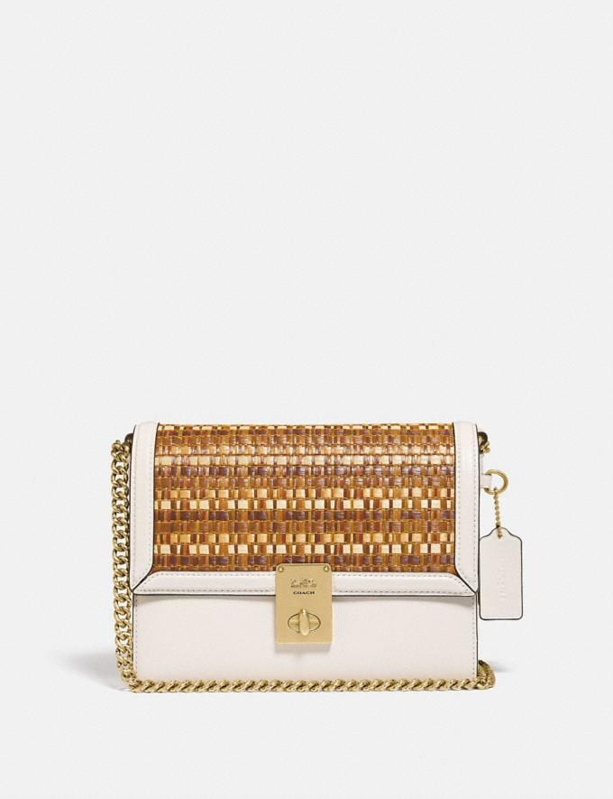 Coach Hutton Shoulder Bag Brass/Oak New Women's New Arrivals View All