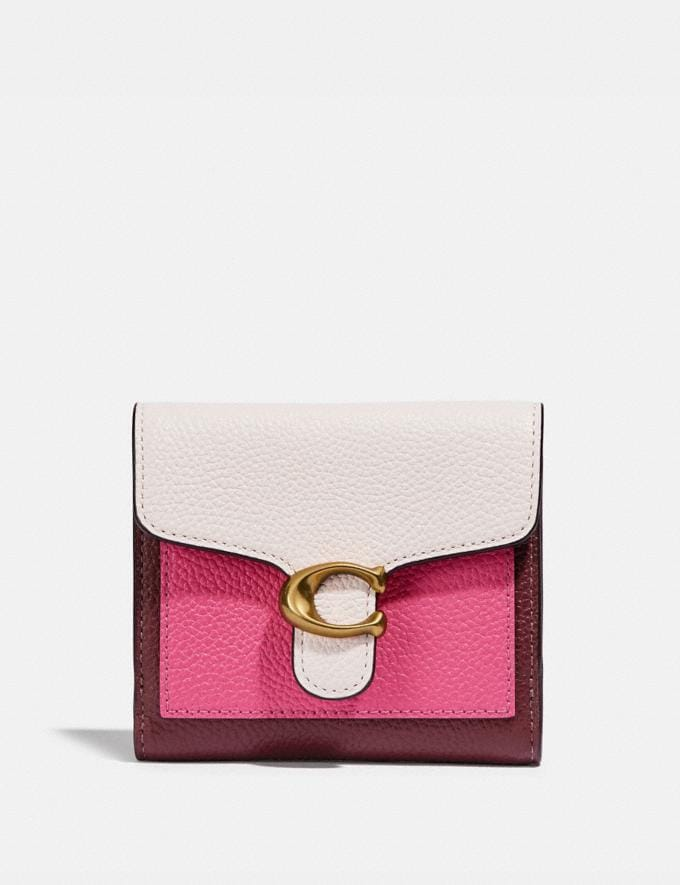 Coach Tabby Small Wallet in Colorblock B4/Confetti Pink Multi Women Wallets & Wristlets