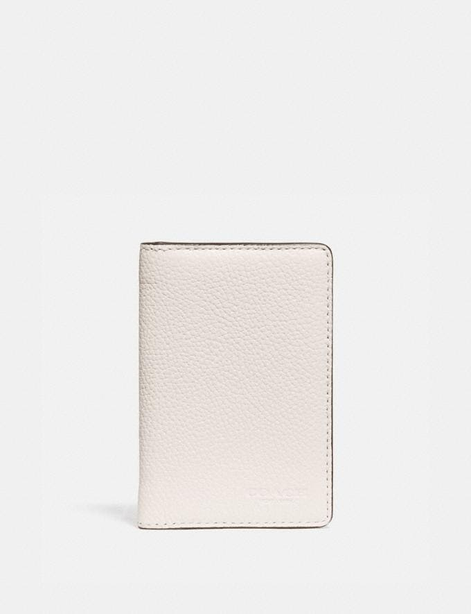 Coach Card Wallet in Colorblock Chalk/Black New Men's New Arrivals