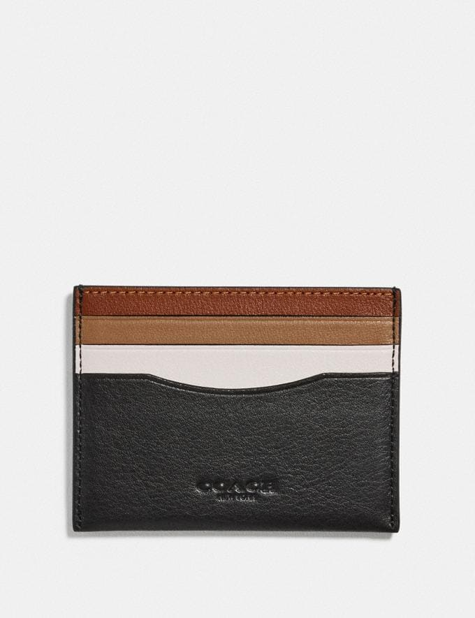Coach Card Case in Colorblock Chalk/Black New Men's New Arrivals Wallets