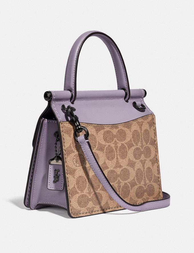 Coach Willis Top Handle 18 in Signature Canvas Pewter/Tan Soft Lilac SUMMER SALE Sale Edits New to Sale New to Sale Alternate View 1