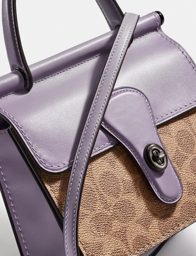 Coach Willis Top Handle 18 in Signature Canvas Pewter/Tan Soft Lilac SUMMER SALE Sale Edits New to Sale New to Sale Alternate View 4