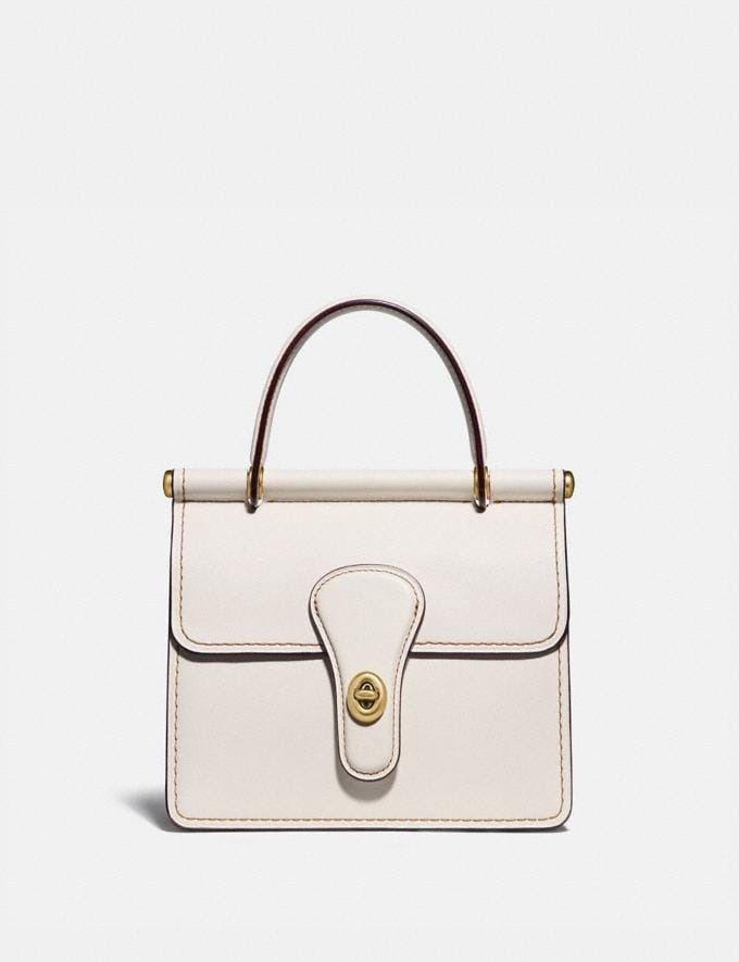 Coach Willis Top Handle 18 Brass/Chalk Gifts For Her Under $500