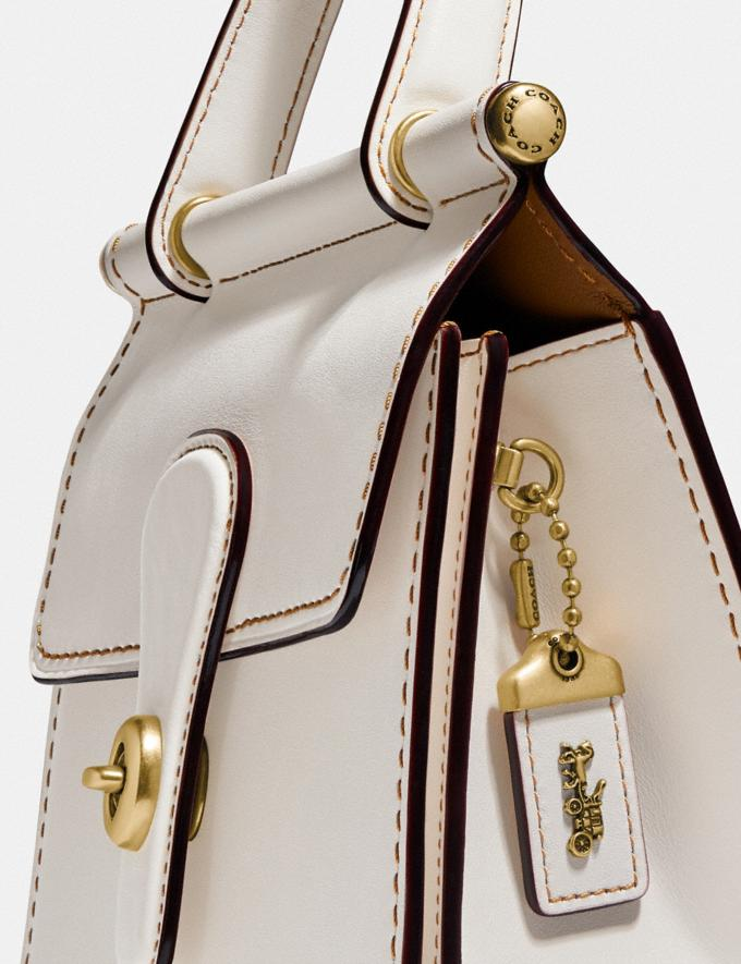 Coach Willis Top Handle 18 Brass/Chalk Gifts For Her Under $500 Alternate View 5