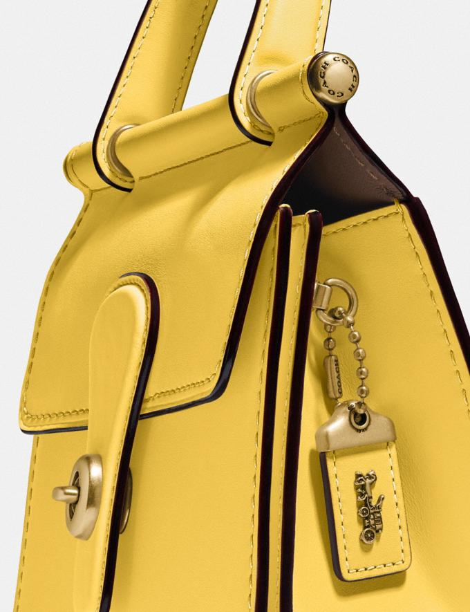 Coach Willis Top Handle 18 Brass/Sunlight SALE Sale Edits New to Sale New to Sale Alternate View 4