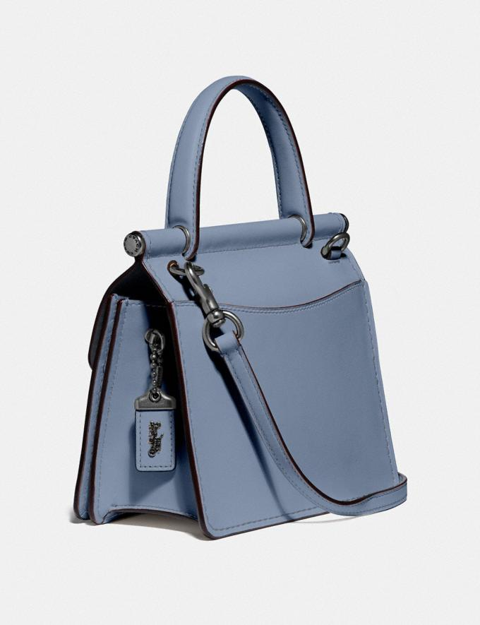 Coach Willis Top Handle 18 Pewter/Bluebell Women Handbags Satchels & Top Handles Alternate View 1