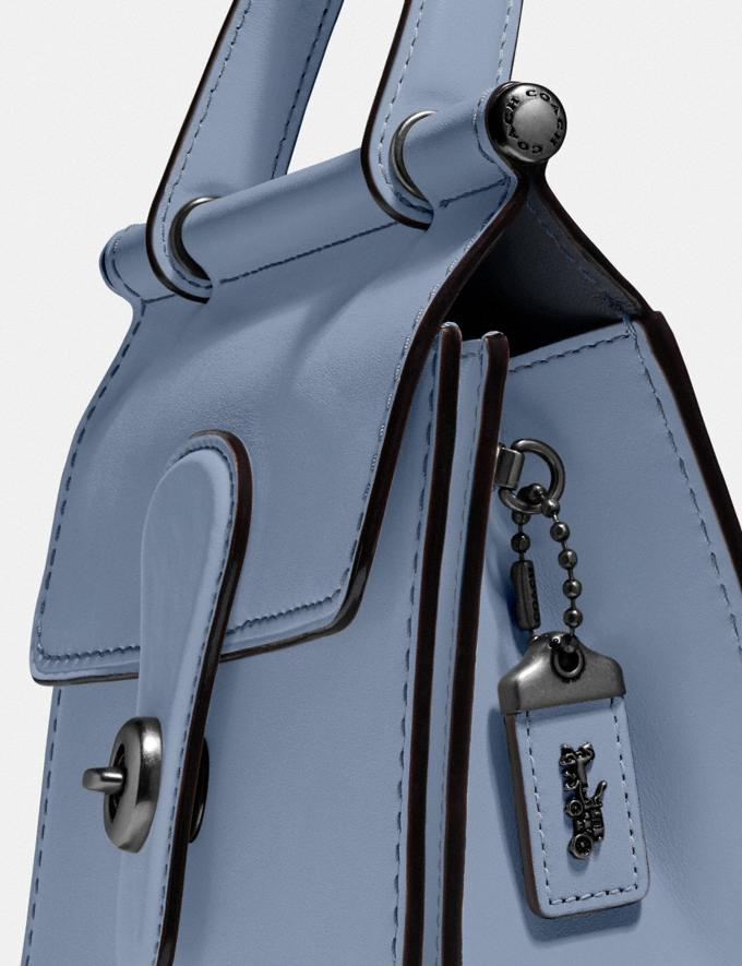 Coach Willis Top Handle 18 Pewter/Bluebell Women Handbags Satchels & Top Handles Alternate View 4