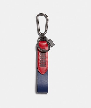 LOOP KEY FOB IN COLORBLOCK WITH SIGNATURE CANVAS DETAIL AND COACH PRINT