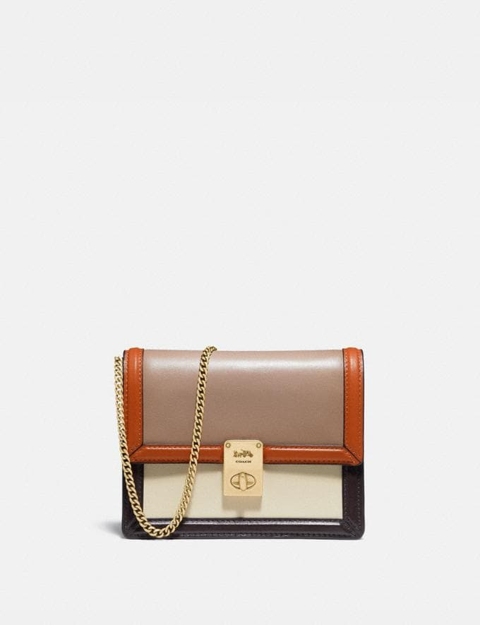 Coach Hutton Belt Bag in Colorblock Brass/Taupe Ginger Multi Women Collection Hutton