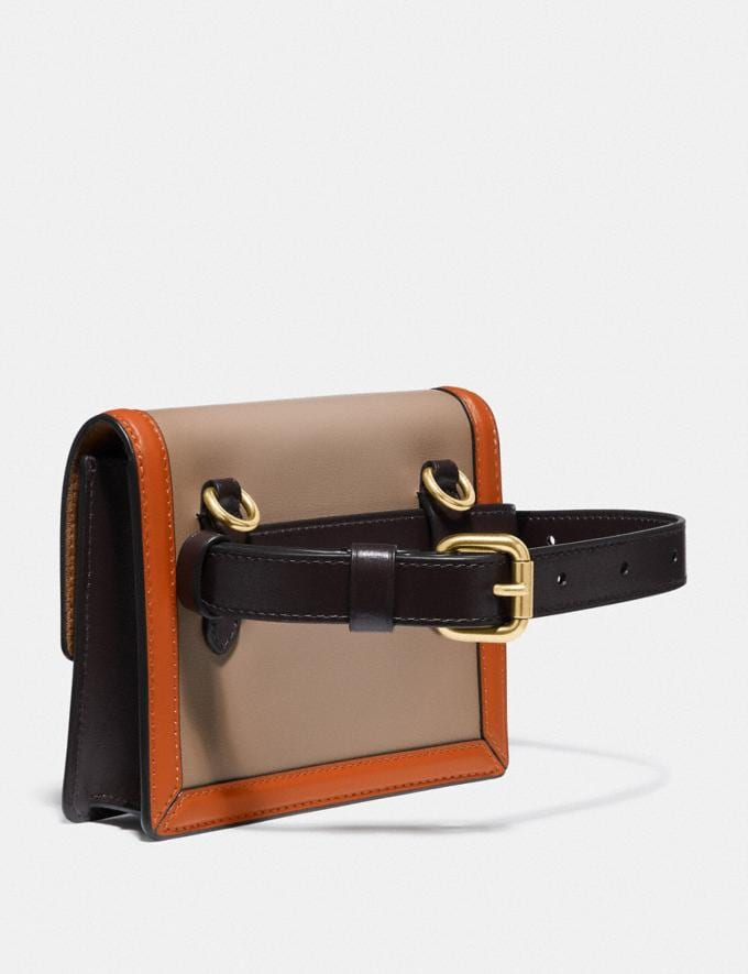 Coach Hutton Belt Bag in Colorblock Brass/Taupe Ginger Multi Women Collection Hutton Alternate View 1