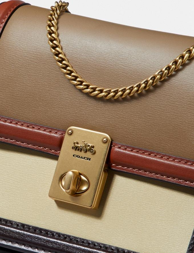 Coach Hutton Belt Bag in Colorblock Brass/Taupe Ginger Multi Women Collection Hutton Alternate View 4