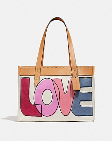 tote 33 with love print