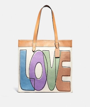 TOTE 38 WITH LOVE PRINT