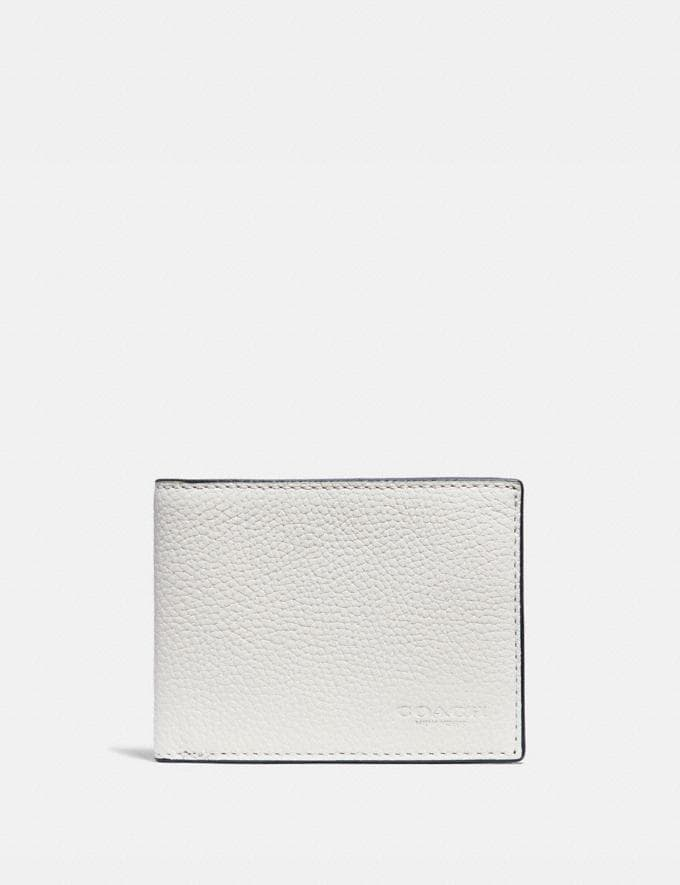 Coach Slim Billfold Wallet in Colorblock Chalk/Black Gifts For Him