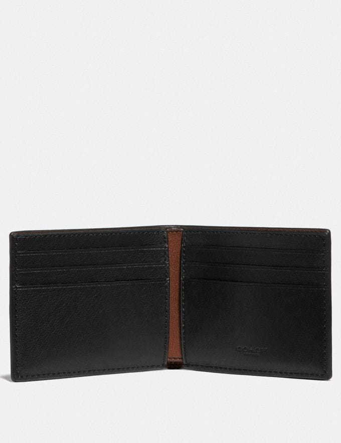 Coach Slim Billfold Wallet in Colorblock Chalk Black Men Wallets Billfolds Alternate View 1