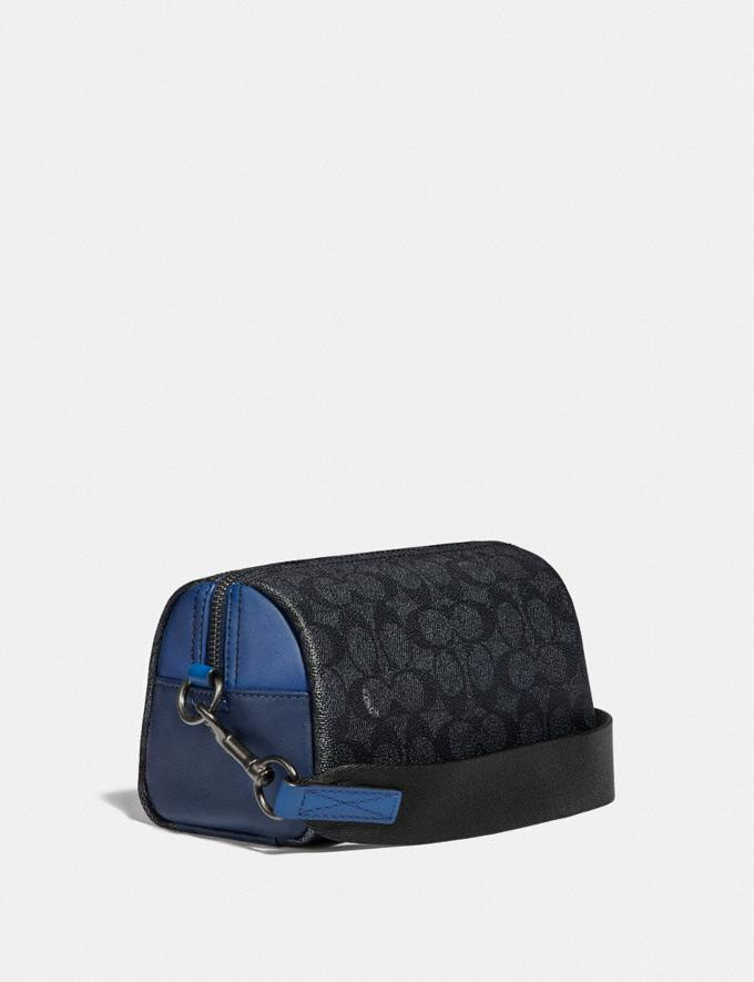 Coach Pacer Convertible Dome in Colorblock Signature Canvas With Coach Patch Charcoal/Deep Sky Men Edits Travel Alternate View 1