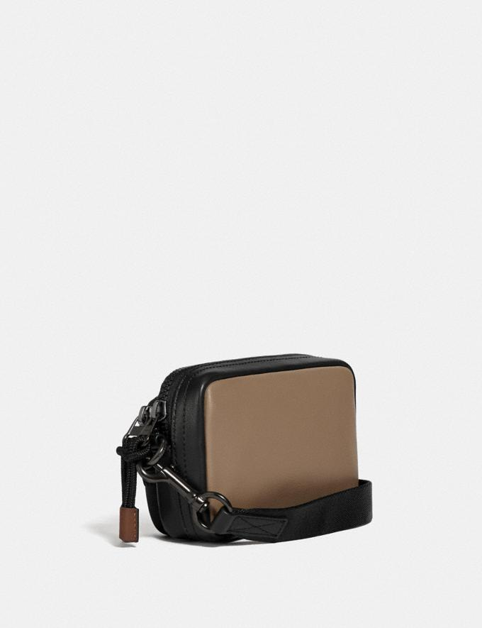 Coach Pacer Convertible Double Pouch in Colorblock With Coach Patch Chalk/Black Men Bags Pouches Alternate View 1