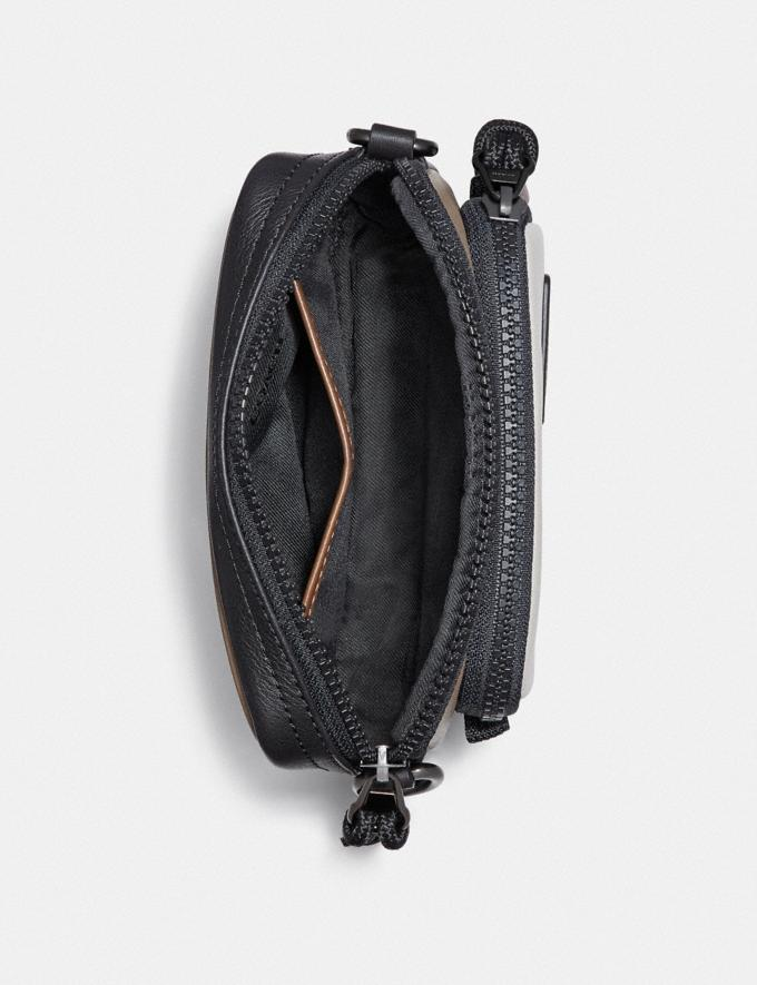 Coach Pacer Convertible Double Pouch in Colorblock With Coach Patch Chalk/Black New Men's New Arrivals Accessories Alternate View 2