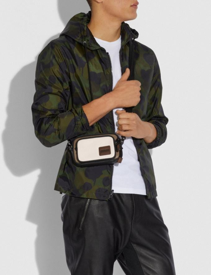 Coach Pacer Convertible Double Pouch in Colorblock With Coach Patch Chalk/Black New Men's New Arrivals Accessories Alternate View 3
