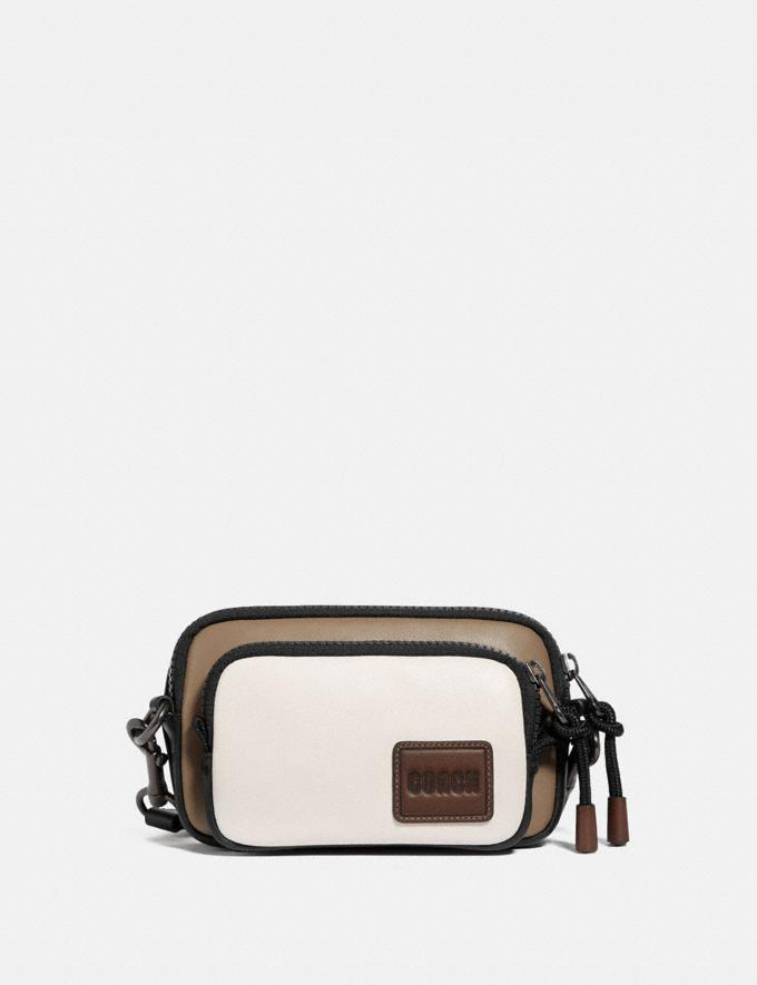 Coach Pacer Convertible Double Pouch in Colorblock With Coach Patch Chalk/Black Men Bags Pouches