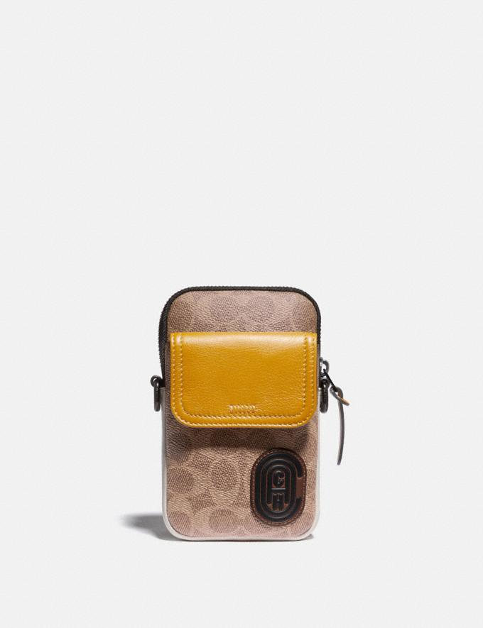Coach Pacer Convertible Pouch in Colorblock Signature Canvas With Coach Patch Khaki/Flax Men Edits Travel