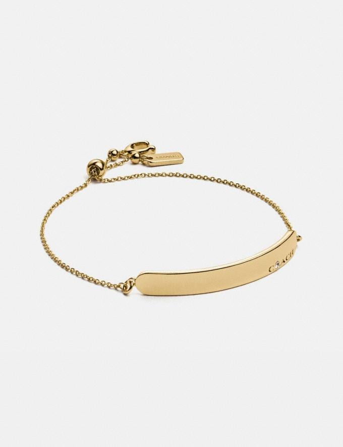 Coach Coach Bar Slider Bracelet Gold Gifts For Her Mother's Day Gifts