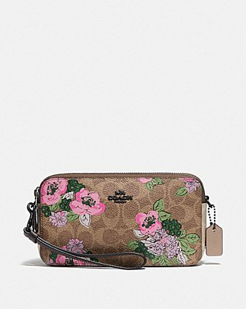 kira crossbody in signature canvas with blossom print