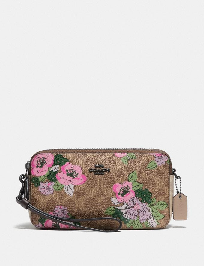 Coach Kira Crossbody in Signature Canvas With Blossom Print Pewter/Tan Sand Print Gifts For Her