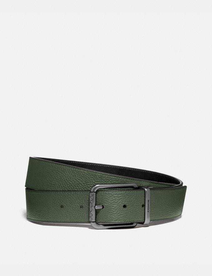 Coach Roller Buckle Cut-To-Size Reversible Belt, 38mm Leaf/Black PRIVATE SALE Men's Sale Accessories