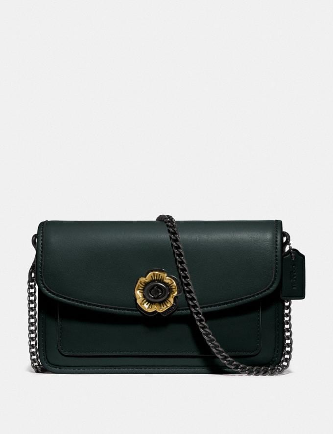 Coach Parker Crossbody Pewter/Pine Green Gifts For Her