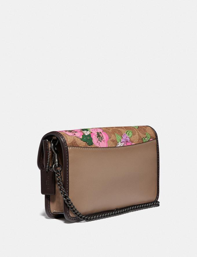 Coach Parker Crossbody in Signature Canvas With Blossom Print V5/Tan Sand Print Women Bags Crossbody Bags Alternate View 1