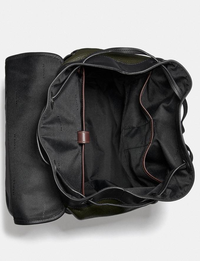 Coach Bleecker Backpack in Colorblock Black Copper/Army Green Multi SALE Men's Sale Alternate View 2