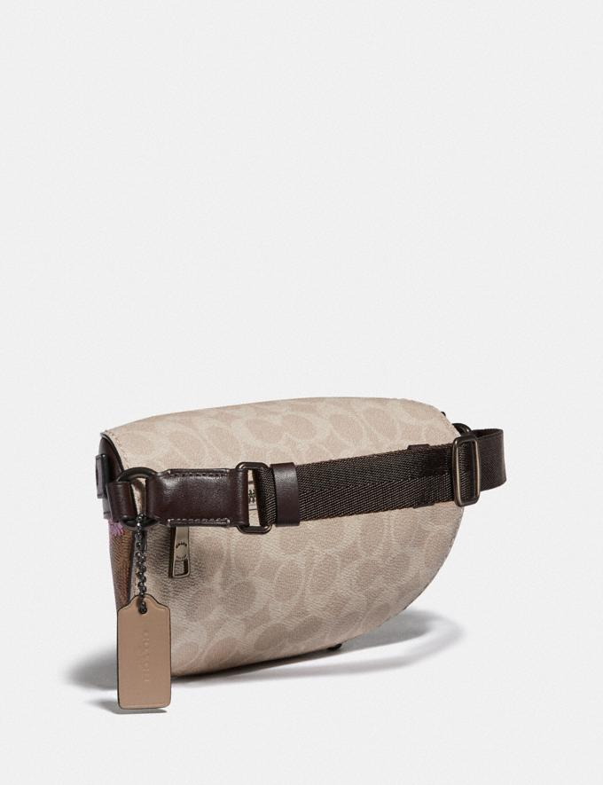 Coach Bethany Belt Bag in Signature Canvas With Blossom Print Pewter/Tan Sand Print Women Bags Belt Bags Alternate View 1