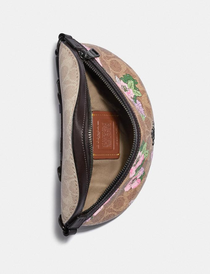 Coach Bethany Belt Bag in Signature Canvas With Blossom Print Pewter/Tan Sand Print Women Bags Belt Bags Alternate View 2