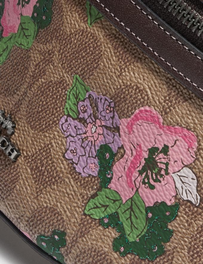Coach Bethany Belt Bag in Signature Canvas With Blossom Print Pewter/Tan Sand Print Gifts For Her Alternate View 3