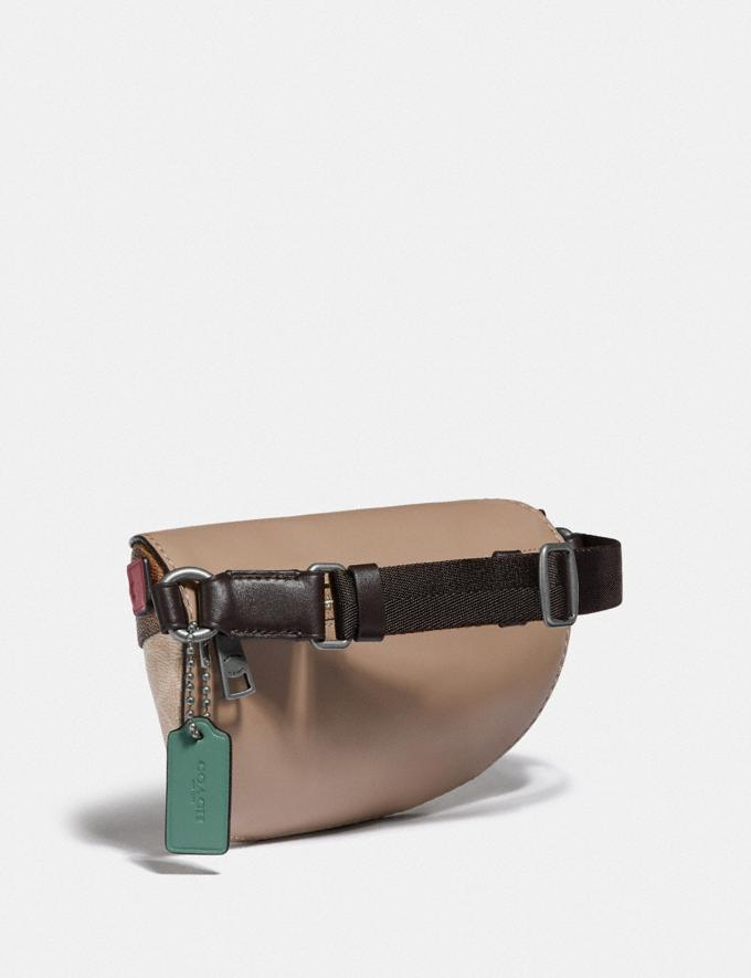 Coach Bethany Belt Bag in Blocked Signature Canvas Lh/Tan Sand Orchid Women Bags Belt Bags Alternate View 1