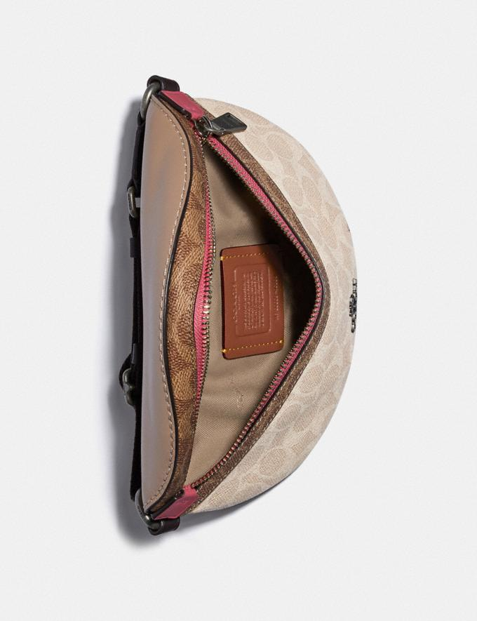 Coach Bethany Belt Bag in Blocked Signature Canvas Lh/Tan Sand Orchid Women Bags Belt Bags Alternate View 2