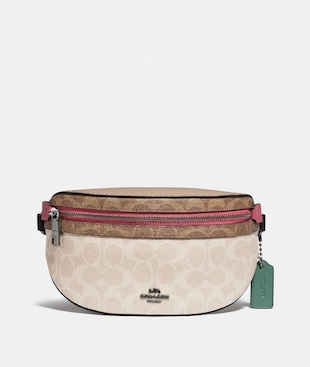 SAC BANANE BETHANY EN TOILE EXCLUSIVE COLOR-BLOCK