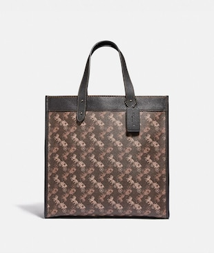 FIELD TOTE WITH HORSE AND CARRIAGE PRINT