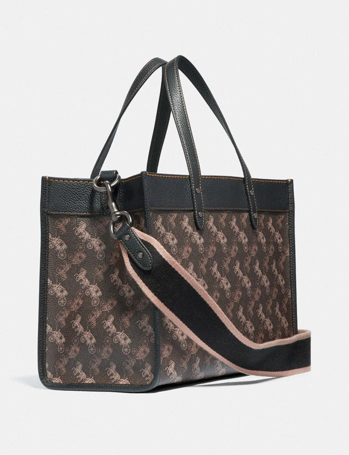 Coach Field Tote 30 With Horse and Carriage Print V5/Brown Black New Women's New Arrivals Alternate View 1