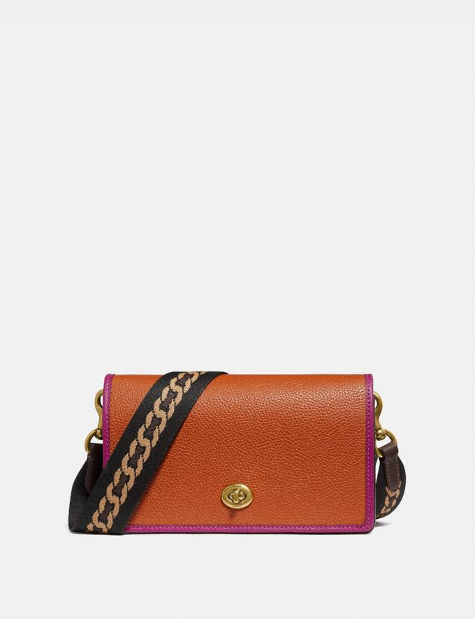Coach Hayden Foldover Crossbody Clutch in Colorblock B4/Ginger Multi Women Small Leather Goods Wristlets