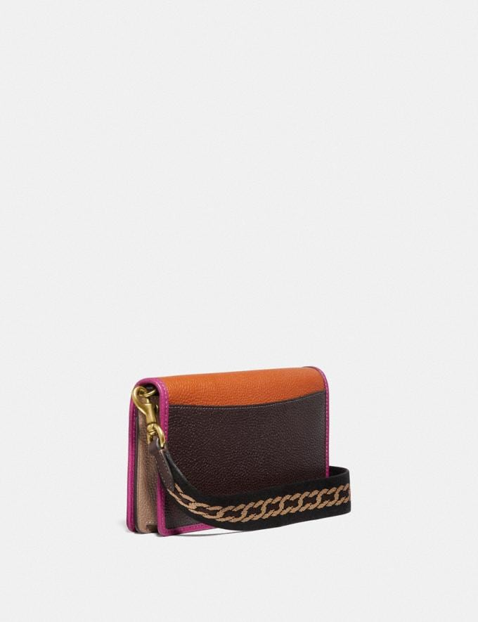 Coach Hayden Foldover Crossbody Clutch in Colorblock B4/Ginger Multi Women Small Leather Goods Wristlets Alternate View 1
